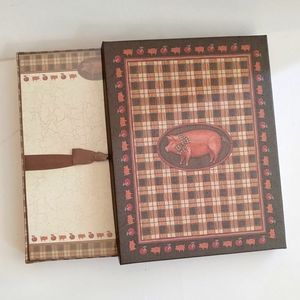 Wood Stationary Box With Country Flair